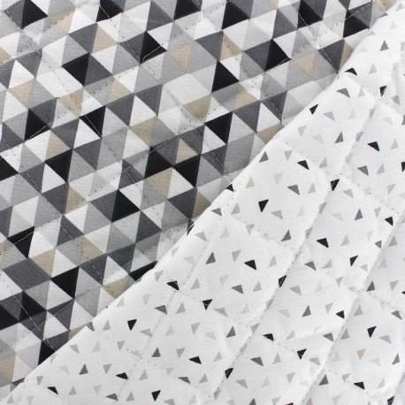 Tissu matelassé réversible Trimix Twini - gris/noir x 10cm