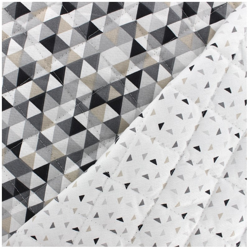 tissu matelasse reversible trimix twini noir blanc x 10cm