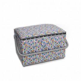 Boîte à couture Pastilles - gris