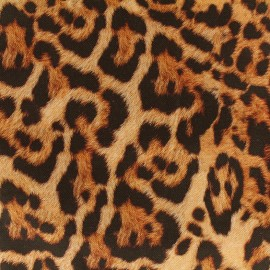 Tissu toile impression digitale Skin (280cm) - léopard x 10cm