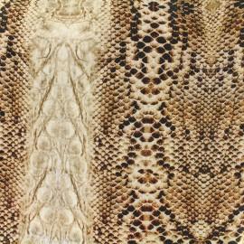 Tissu toile impression digitale Skin (280cm) - serpent x 10cm