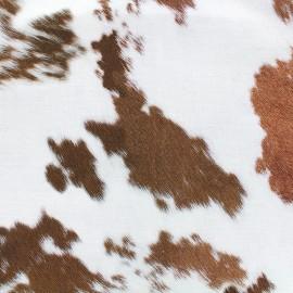 Tissu toile impression digitale Skin (280cm) - vache x 10cm