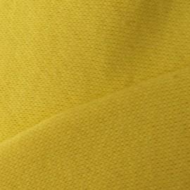 Tissu sweat jaune x 10cm