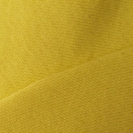 Tissu sweat jaune