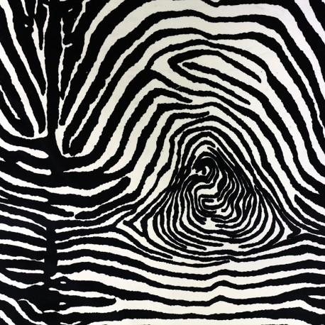 Short velvet fabric - Zebra