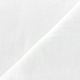 Tissu molleton Hortense (250cm) - blanc x10cm