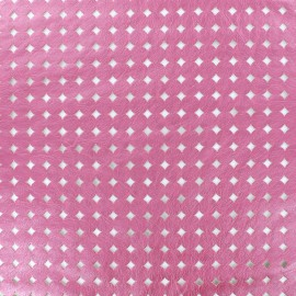 Openworked imitation leather Moucharabieh - pink x 10cm