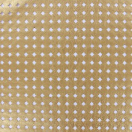 ♥ Coupon tissu 200 cm X 140 cm ♥ Simili cuir souple ajouré Moucharabieh - gold