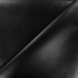 Simili cuir souple nacré - noir x 10cm