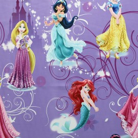 Blackout Fabric Disney Les Princesses - purple x 65cm