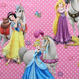 Blackout Fabric Disney Suncaval - pink x 63cm