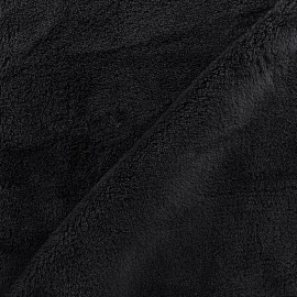 Tissu Piloudou uni - noir x 10cm