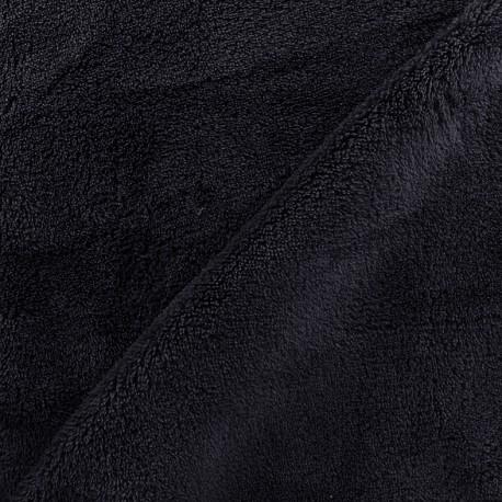 Plain Piloudou fabric - night blue x 10cm
