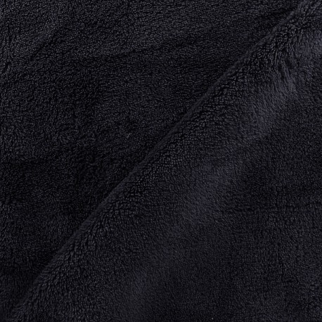 Tissu Piloudou uni - bleu nuit x 10cm