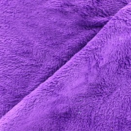 Plain Piloudou fabric - purple x 10cm