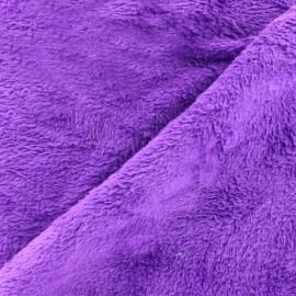 Tissu Piloudou uni - violet x 10cm