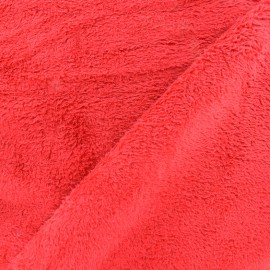 Plain Piloudou fabric - red x 10cm