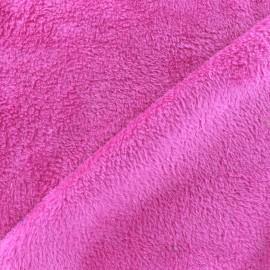 Plain Piloudou fabric - fuchsia x 10cm