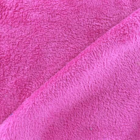 Tissu Piloudou uni - fuchsia x 10cm