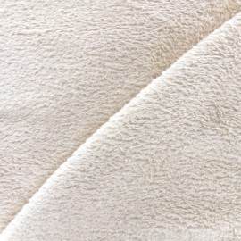 Plain Piloudou fabric - light beige x 10cm