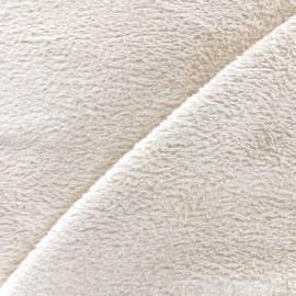 Tissu Piloudou uni - beige clair x 10cm