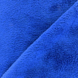 Plain Piloudou fabric - navy blue x 10cm