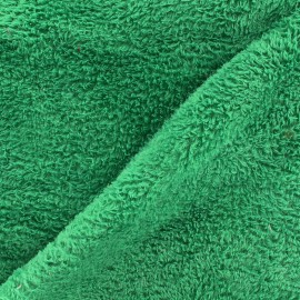 Tissu Piloudou uni - vert x 10cm