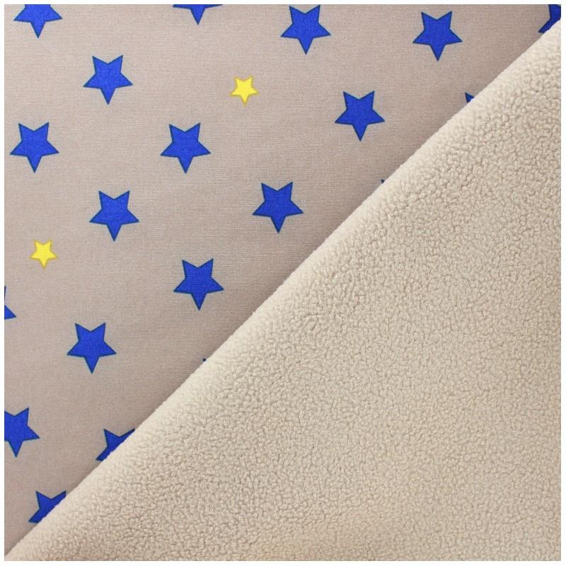 Nano tex water repellent fabric constellation beige x for Constellation fleece fabric
