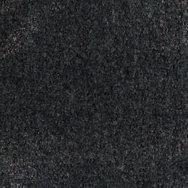 ♥ Coupon tissu 45 cm X 140 cm ♥ Tissu Lainage bouclette irisé - cuivre/gris anthracite