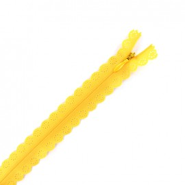 Invisible Closed bottom zipper lace - saffron yellow