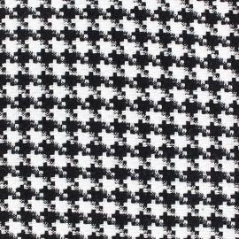 Tissu Lainage Pied de poule - noir et blanc x 10cm