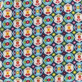 Milleraies velvet fabric Rosalie - blue x10cm