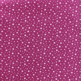 Tissu velours milleraies Constellation - fuchsia x10cm
