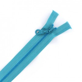 Moulded plastic open end zip eclair® - turquoise