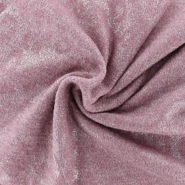 Tissu Maille irisée - rose x 10cm