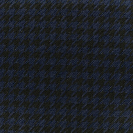 Wool fabric houndstooth - navy x 10cm