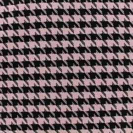 Tissu Lainage Houndstooth - rose x 10cm