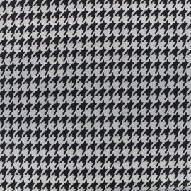 Tissu jacquard Pied de poule - gris x 10cm