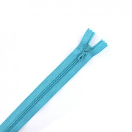 Closed bottom zipper - turquoise