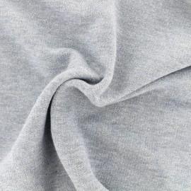 Tissu jogging lurex - bleu clair x 10cm