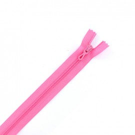 Closed bottom zipper - hot pink