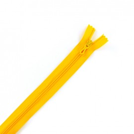 Closed bottom zipper - yellow