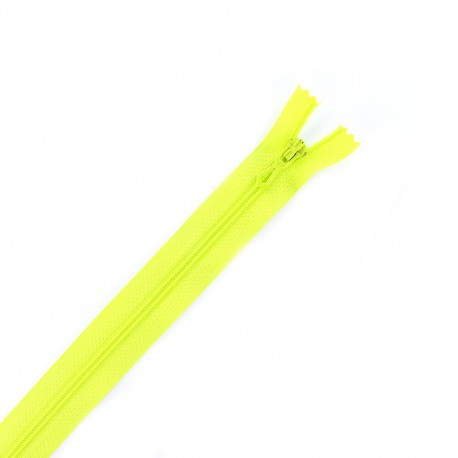 Closed bottom zipper - yellow