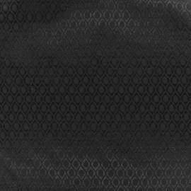 Tissu jacquard Orient - noir x 10cm