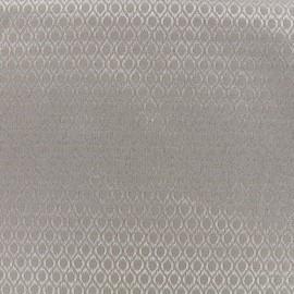 Tissu jacquard Orient - taupe x 10cm