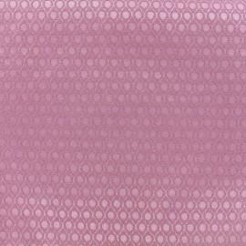 Tissu jacquard Orient - vieux rose x 10cm