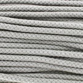 Braided cord 7mm - pearl grey x 1m