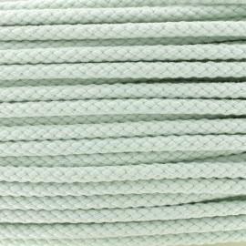 Braided cord 7mm - light green x 1m