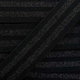 Elastique plat Party - noir x 1m