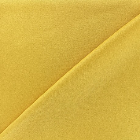 Crepe with satin reverse side Fabric - yellow  x 10cm